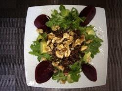Lentil, Arugula, Beet, Avocado, and Walnut #Salad #Recipe!
