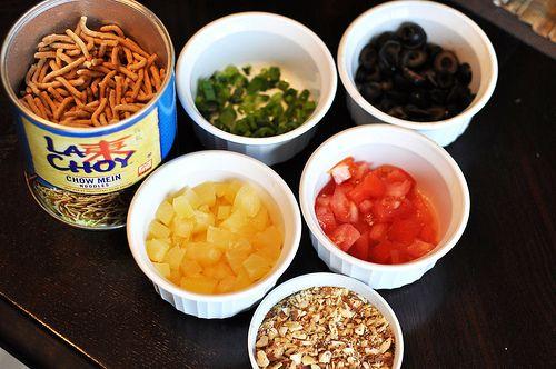 Chicken Hawaiian Haystacks photo | Food | Pinterest