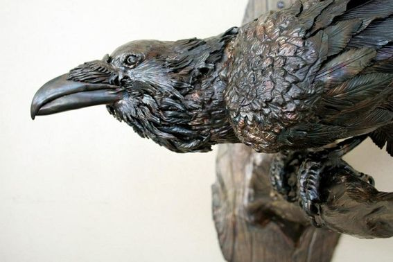Custom Made Wildlife Sculpture, Raven | Metal Art | Pinterest