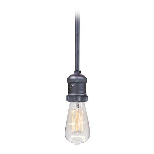 bronze bare bulb socket mini pendant light with restoration light bulb. Black Bedroom Furniture Sets. Home Design Ideas