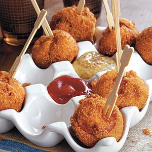 Andouille Corn Poppers - package corn muffin mix - egg - buttermilk ...