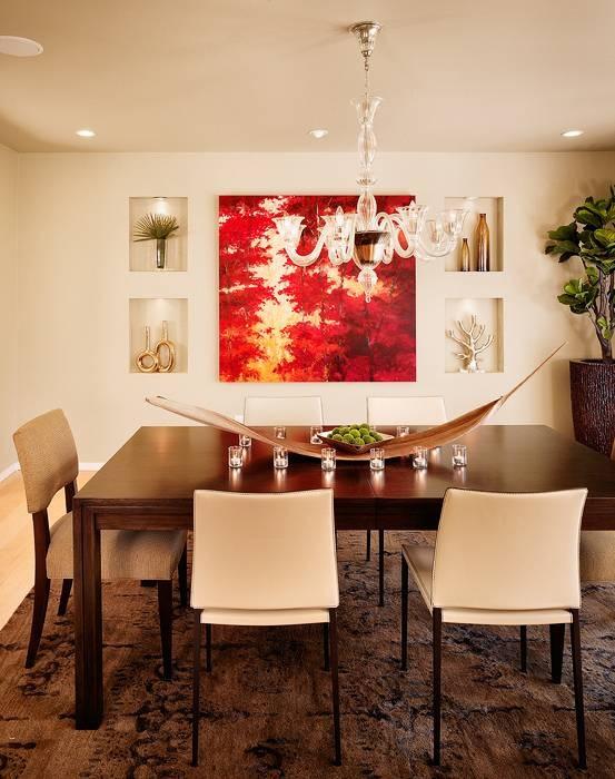 Nice wall art arrangement Dining rooms