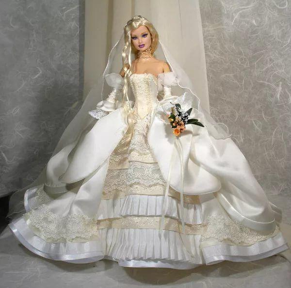 Как сшить для куклы барби с свадебных платьях 299
