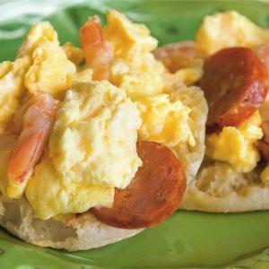 Peppered Shrimp & Andouille Scramble | Dream Home & recipe inspiratio...