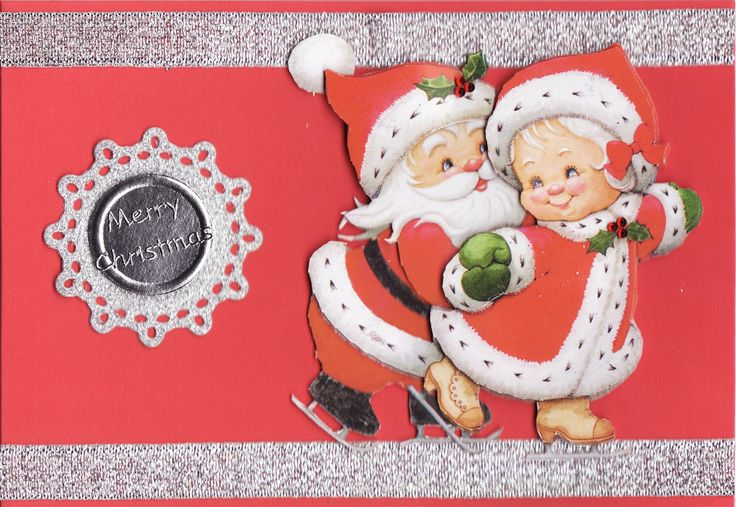 3D Mr and Mrs Claus Christmas Card | Tassie Scrapangel - Christmas ...