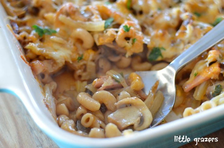 Bacon, Fennel and Mushroom Pasta Bake | Little Grazers Always good to ...