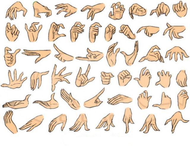 dibujar poses de las manos con expresión