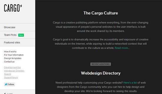 Free website publishing platform location