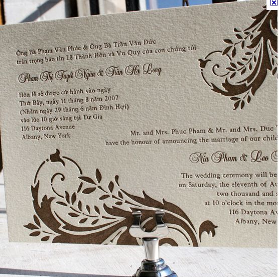 Bilingual Wedding Invitations is one of our best ideas you might choose for invitation design