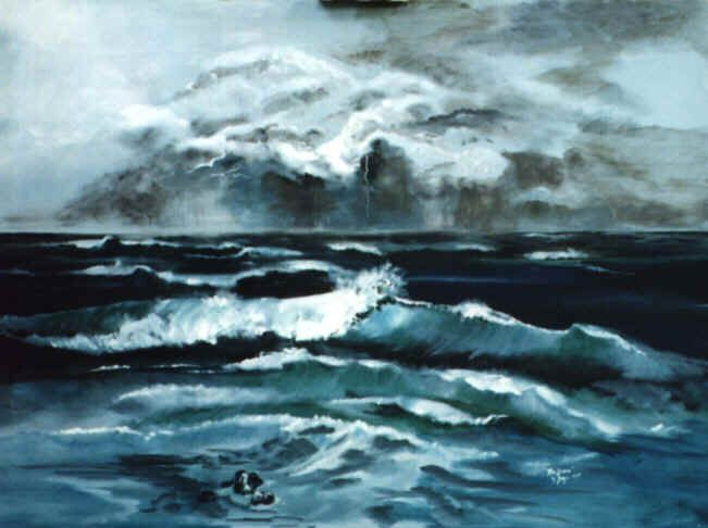 stormy ocean waves painting   seascapes   Pinterest