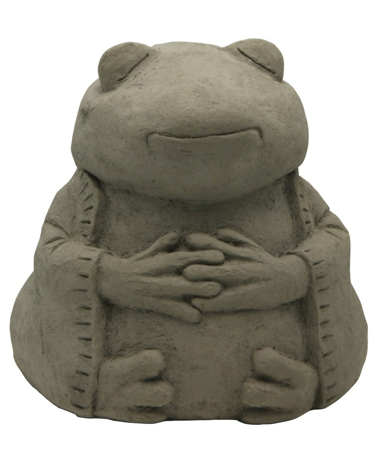 zen frog stone garden statue. Black Bedroom Furniture Sets. Home Design Ideas