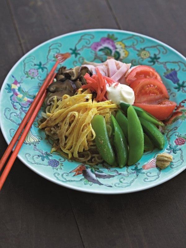 Japanese Cold Sesame Noodle Salad (Hiyashi Chuka)