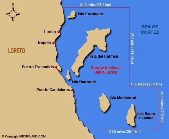 Baja Islands Map