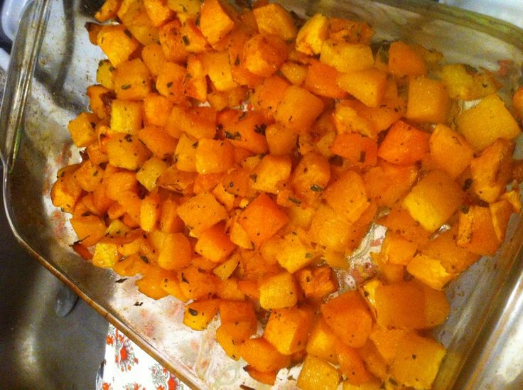 Roasted Butternut Squash with Brown Sugar Butter and Herbs | Recipe