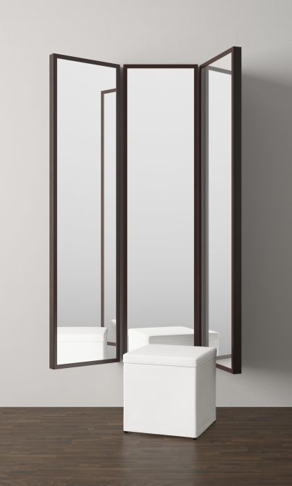 Stave mirror black brown for Miroir ikea hemnes