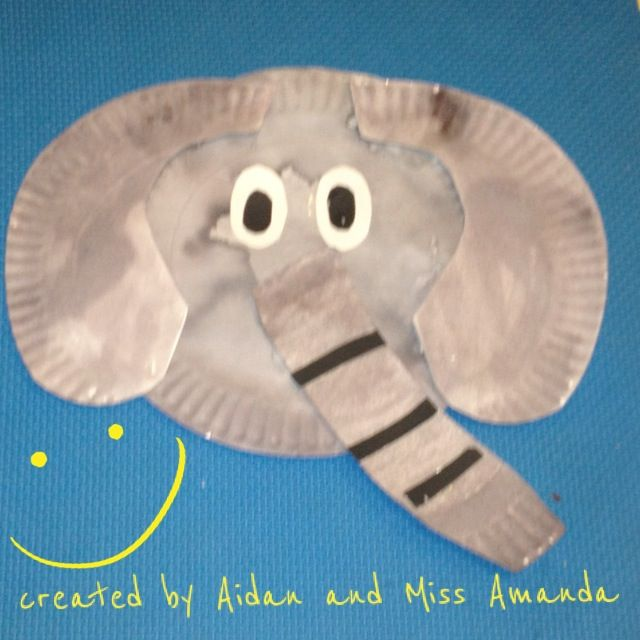 Paper plate elephant grad school classroom ideas pinterest