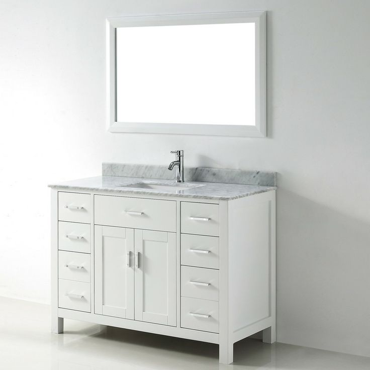 Chloe 48 inch white carrera single sink vanity set 48 inch bathroom vanity