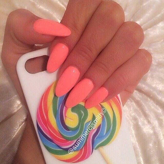 Peach Color Nail Designs Peach Color Nails