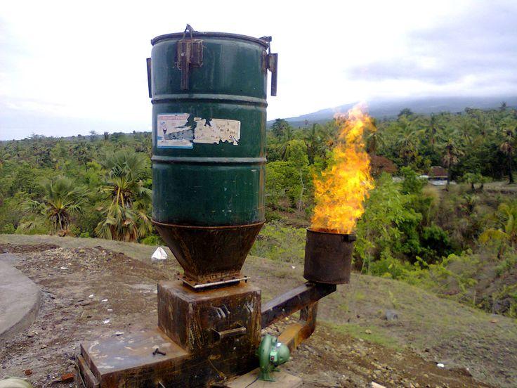Fishman Cashew Gasifier  woodgas  Pinterest