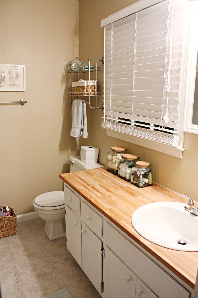 butcher block bathroom countertop favorite places spaces pinter