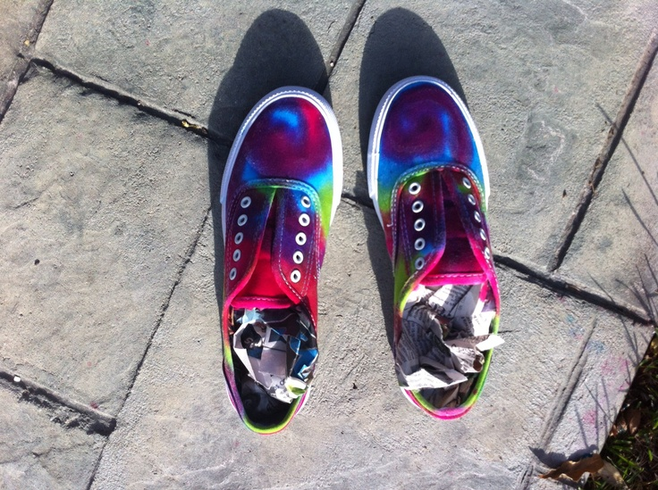 tie dyed tennis shoes designs by allison