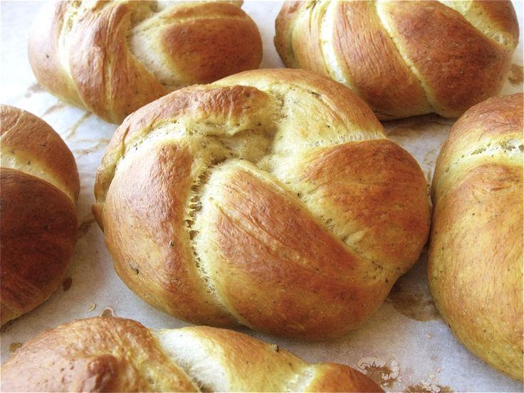 Pretzel buns | Bread/Pastries | Pinterest