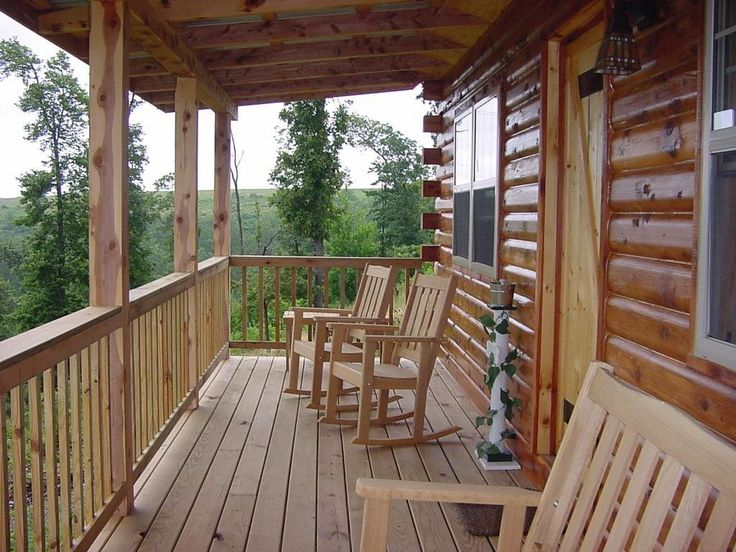 cabin with a front porch lake cabin pinterest