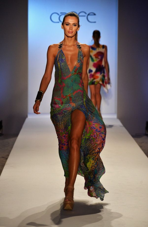 Caff swimwear spring summer 2014 collection miami swim for Pool fashion show