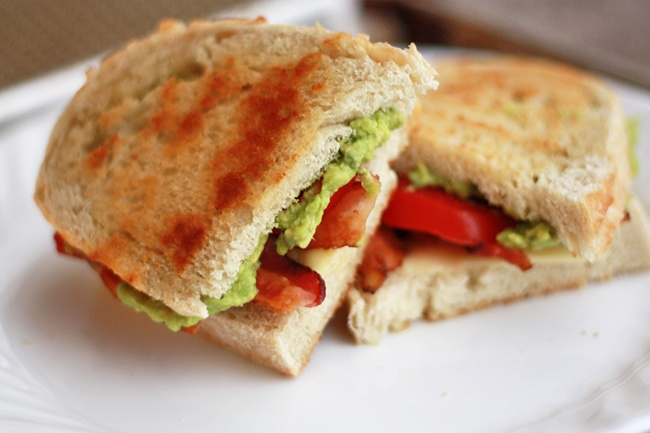 Avocado, bacon and tomato. I actually kicked it up a notch and made it ...