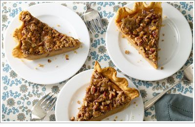 Sweet Potato Pie with Pecan Streusel Topping.