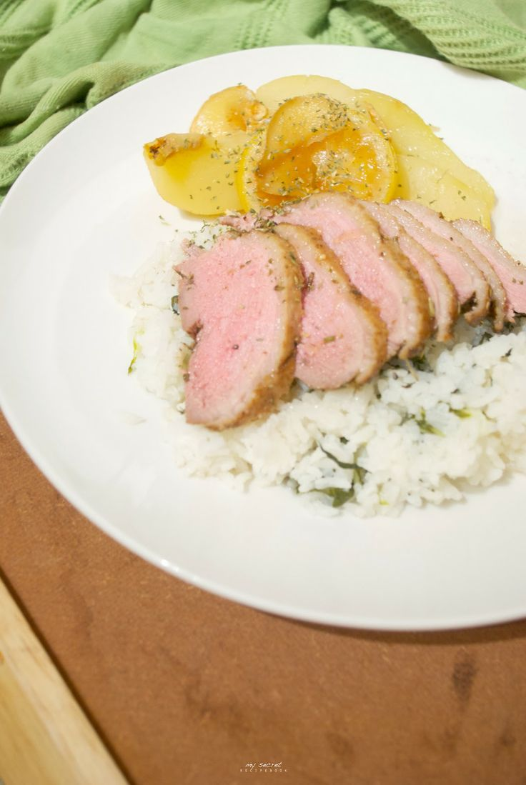 Baked Duck Breast with Poached Pear | Food | Pinterest