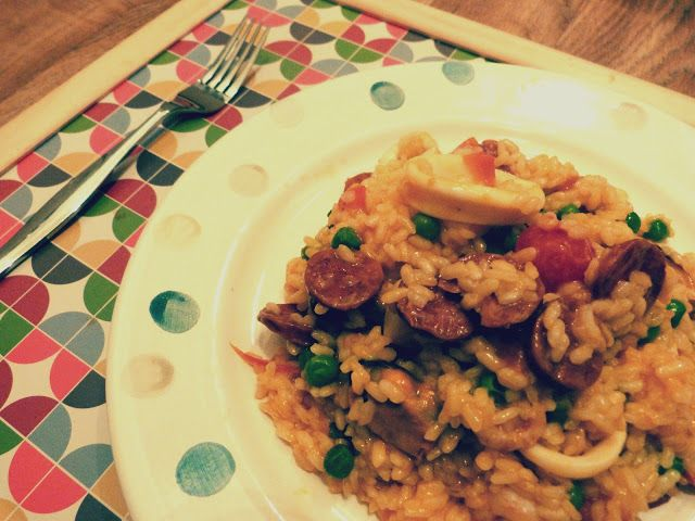 seafood and chorizo paella | Food & Drink | Pinterest