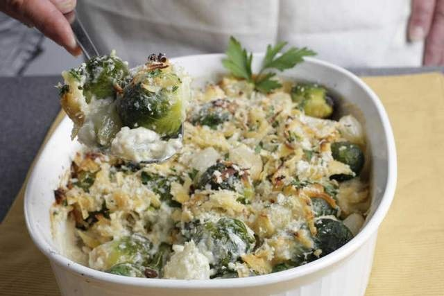 Smoky Brussels Sprout Gratin. | Food | Pinterest