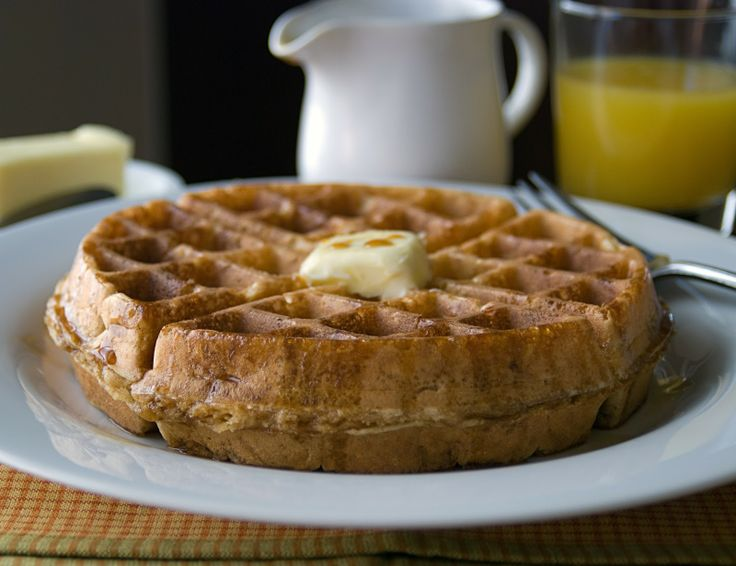 ... coconut oil. From the musician, who cooks: whole grain belgian waffles