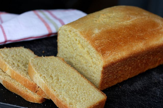 Yeasted Cornbread Loaf | recipes to make... | Pinterest