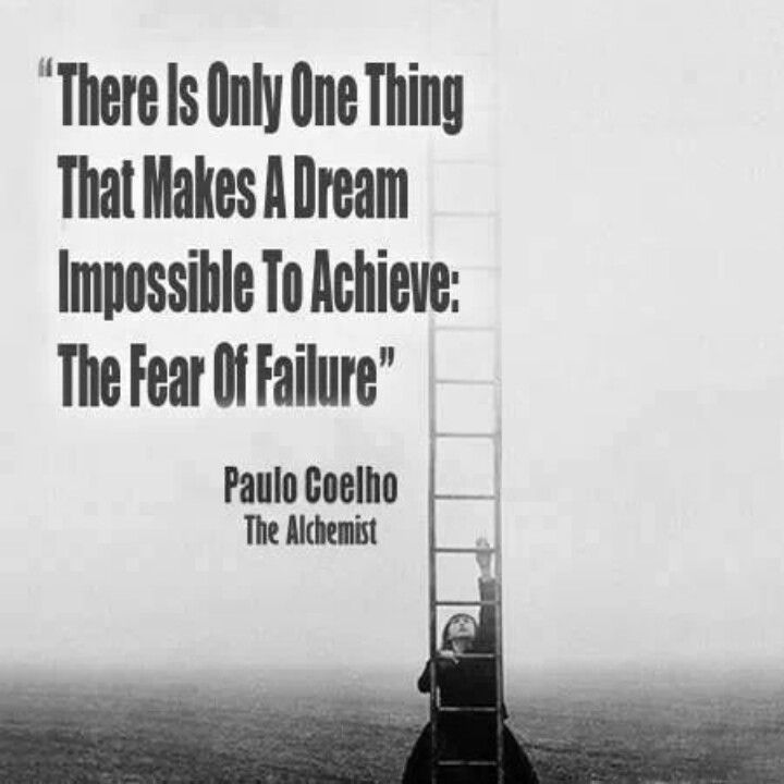 how to face fear of failure