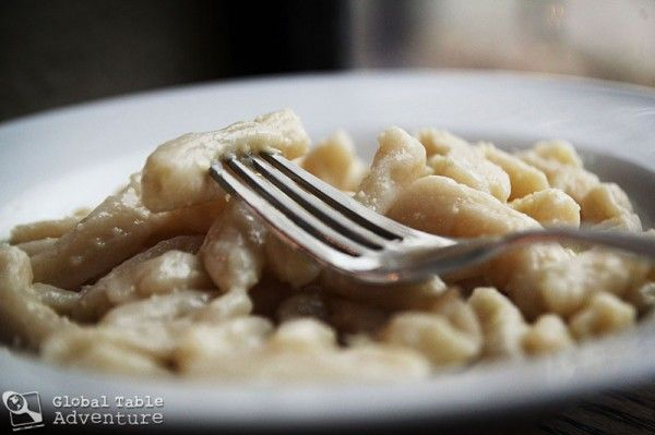 Mountain Gnocchi (Maakroun) ~a thick homemade pasta that is either ...