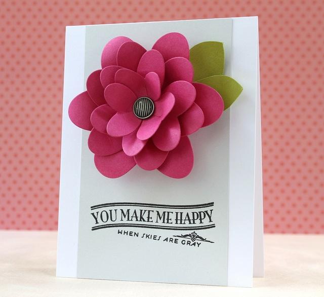 Зд открытка с цветами 84