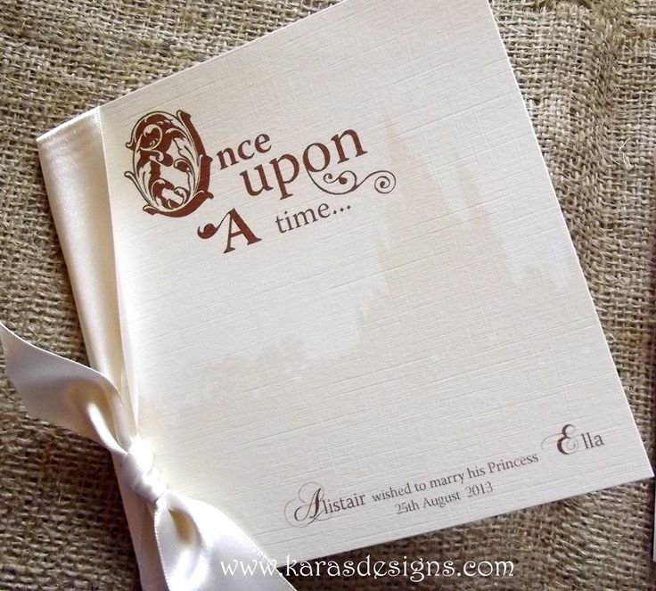 Once Upon A Time Wedding Invitation for adorable invitation design