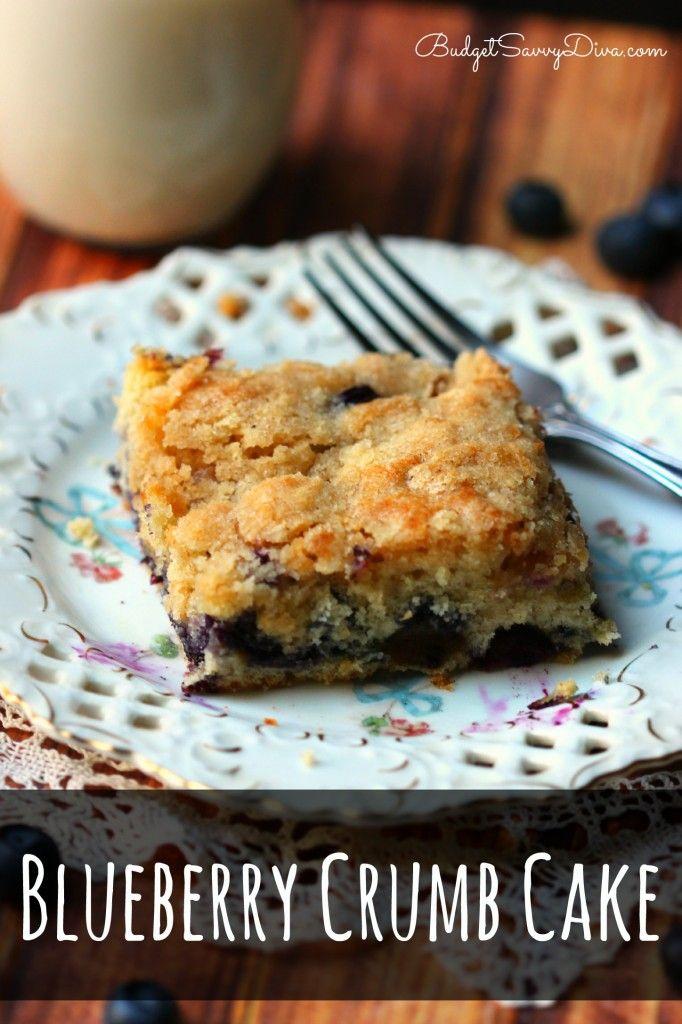 ... blueberries - Blueberry Crumb Cake Recipe #blueberry #recipe #cake #