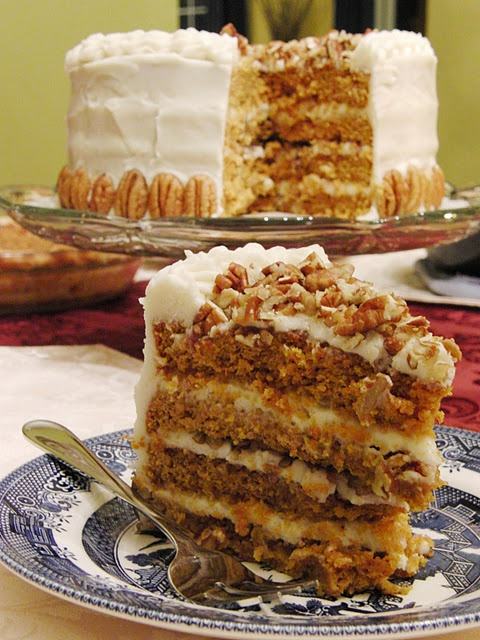 Pumpkin Spice Layer Cake   Nom Nom   Pinterest