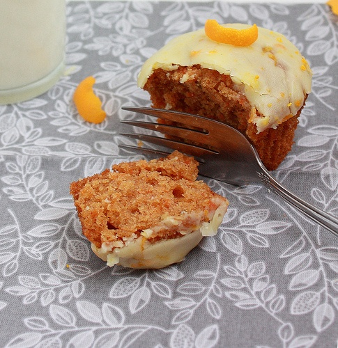 Delicious Carrot Cupcakes with Orange Icing
