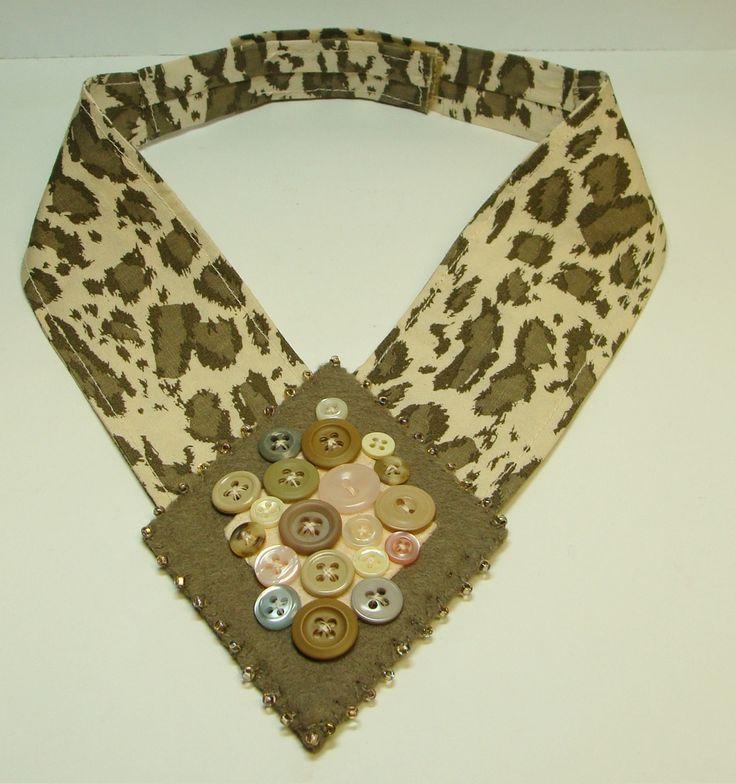 Felt, Fabric, Buttons Collar Necklace