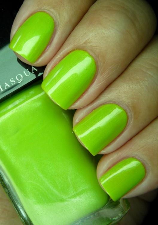 Spring green nail polish