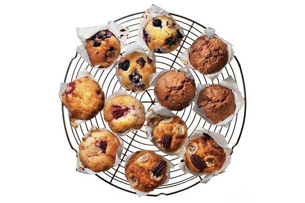 Sweet muffins - Clockwise from top, blueberry and lemon, chocolate ...