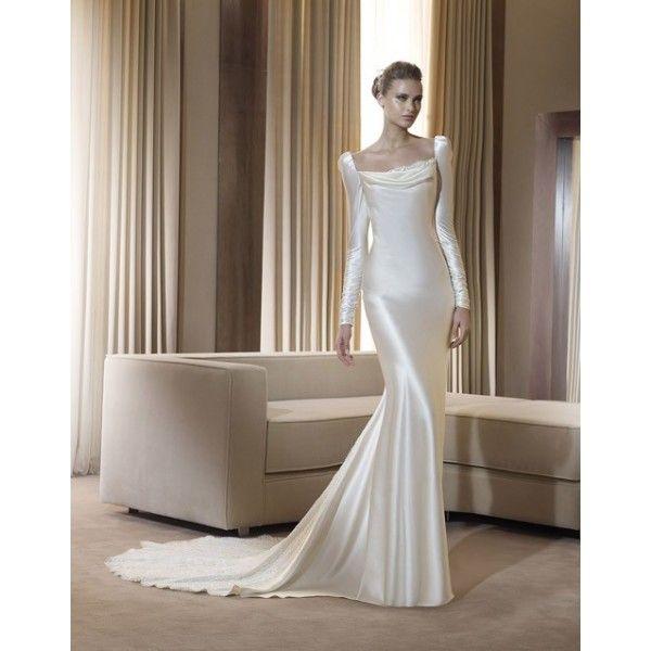 Winter Wedding Dress Simple : Simple long sleeve winter wedding dress star bridal apparel