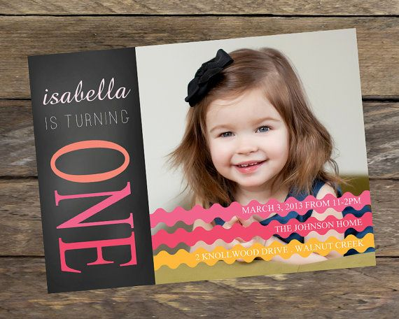 - Photoshop Template - First Birthday Party Invitation Template ...