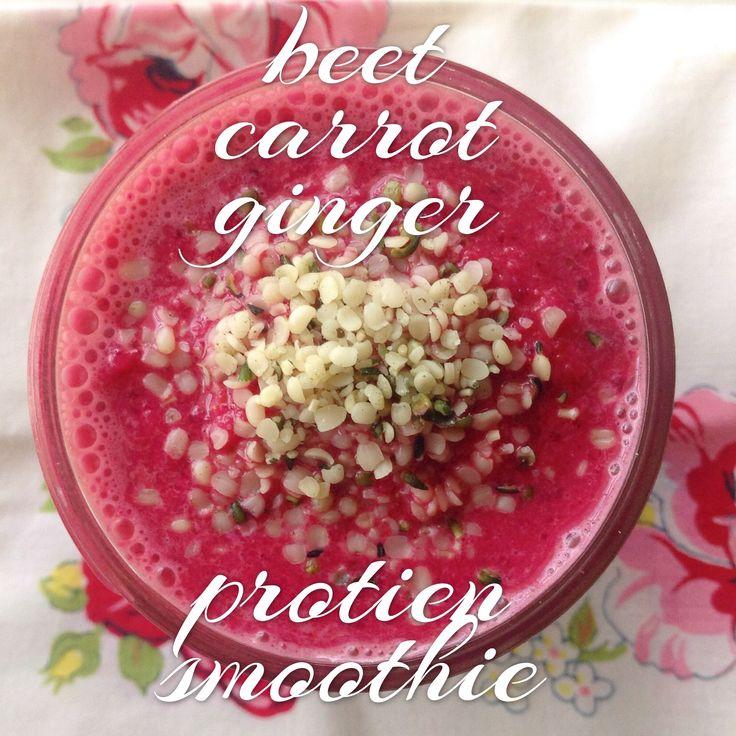 Beet Carrot Ginger Protein Smoothie | Nom Nom Nom | Pinterest