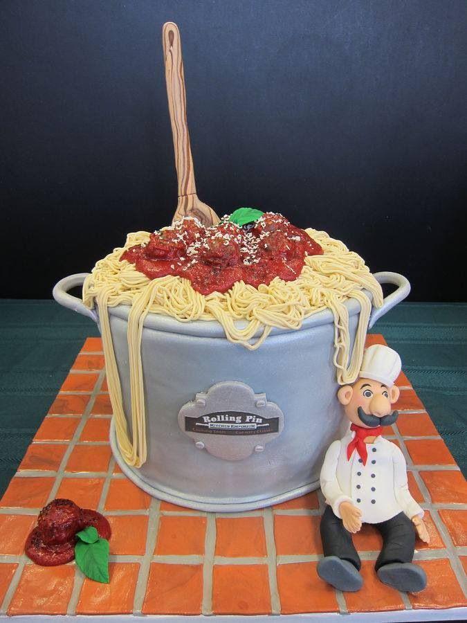 Spaghetti cake mamma Mia (: | Cake-a-licious | Pinterest