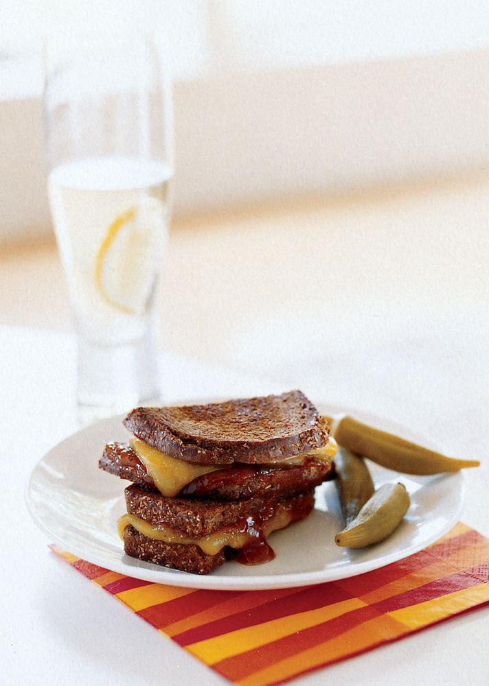 grilled cheese with cheddar and mango chutney on domino.com
